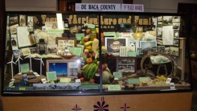 Image of De Baca county agriculture display