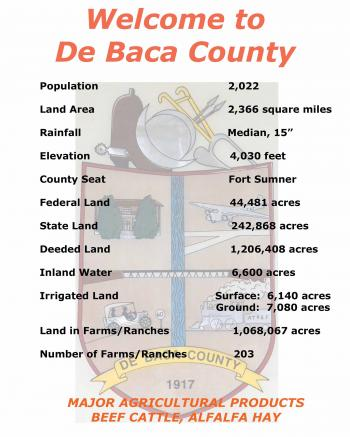 Image of post of statistics about De Baca County